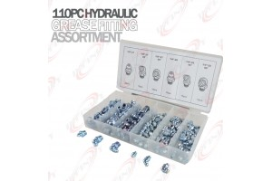 110PC MM Hydraulic Grease Fitting Assortment Set Lube Lubrication Zerk Metric