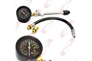 "Compression Tester Gauge 13"" Flex Hose Drive 14mm 18mm Adapters & Straight Stem"