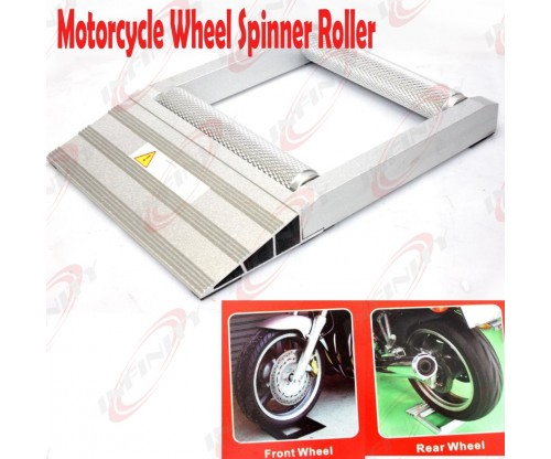 MOTORCYCLE ATV 500lbs UNIVERSAL FRONT REAR WHEEL SPINNER ROLLER LOW PROFILE