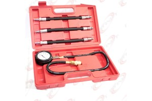 Auto Engine Compression Pressure Tester Kit w/ Extend Hose M10 M12 M14 Adapters