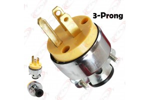 New 3-Prong Replacement Male Electrical Plug Heavy-Duty