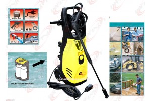 2000W 2600PSI High Pressure Jet Spray Washer w/Reel Hose & Double Detergen Tanks