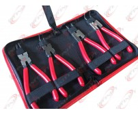 "Heavy Duty 4pcs 7"" Circlip Plier Snap Ring Plier External Internal Kit w/ Pouch"