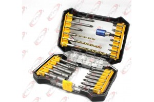 25pcs Rapid Load Multi-Bit Set Hex Drill Bits & Drive Set w/Magnetic Bit Holder