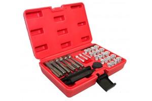33pcs Cylinder Head Glow Plug Tap Thread Re-threading Repair / Restore Tool Set
