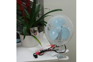"""7"""" 2 SPEED OSCILLATING MULTI-USE FAN STAND UP, WALL MOUNT, OR CLIP ON 110v"""