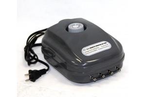 8.5W Aquarium Hydroponic Air Pump Tank 4 Way Outlets Magnetic Vibration Pumps