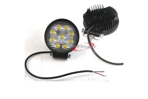 Lot 2 Round 27W Bright LED Work Light Spot Beam Off-road Driving Fog Lamp Truck