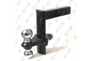 "6 Position Adjustable Trailer 8"" Drop w/ 2"" & 2-5/16"" Hitch Ball Mount Receiver"