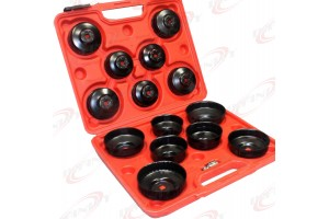 15pc Oil Filter Cap Wrench Socket Removal Install Set 65-14F to 100mm-15F Cup