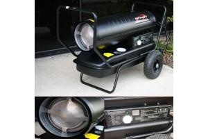 Portable 125,000 BTU Kerosene Forced Air Heater w/ Comfort Control Thermostat