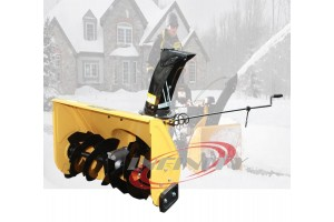 Walk Behind 196cc 6.5HP Gas Power Snow Blower Thrower +Sweeper W/Dust Collector