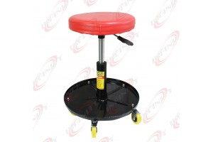 Adjustable Home Automotive Casters Mechanic Roller Seat W/ Tool Storage Tray