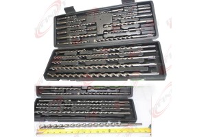 20pc SDS Plus Hammer Drill Bits w/Carbide Tip Flute Concrete Masonry Bricks Bit