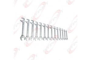 "New double open end angle wrench set 3/8"" - 1"" by 10pcs"