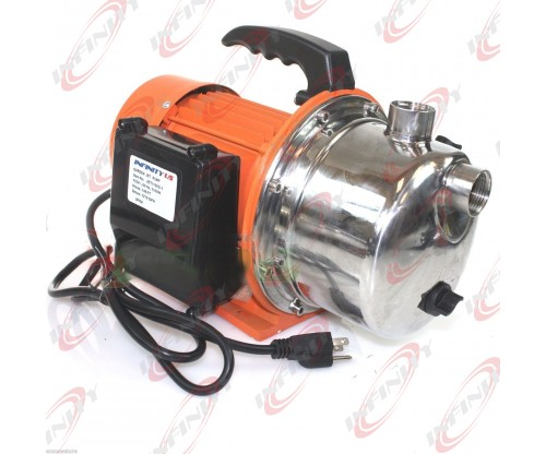 1HP 16 GPM JET WATER PUPM Pressure Booster Water Jet Stainless Pump Self-Priming