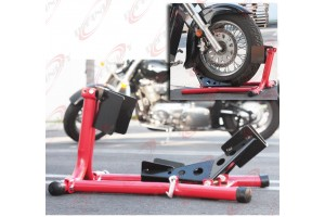 Motorcycle Sport Bike Crusiser Locking Front Wheel Chock Mount Hold Stand
