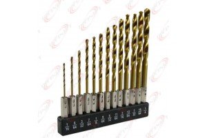 Pro 13pc Hex Shank Titanium Quick Change Drill Bit Set