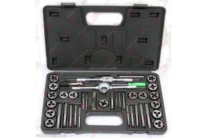 40 PC MM METRIC Tap & Die Dies Set Bolt Screw Extractor/Puller Removal Kit Case