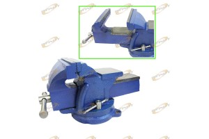 "5"" BENCH VISE CLAMP TABLETOP 90Degree SWIVEL LOCKING BASE Fast Shipping"
