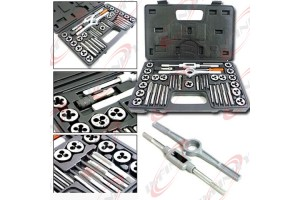 80pc Tap and Die Set 40pc Metric & 40pc SAE Thread Renewing Tools Re-thread