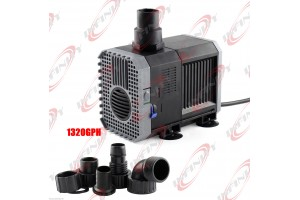 1320 GPH Pond Pump Adjustable Submersible Inline Fountain Waterfall Koi Filter