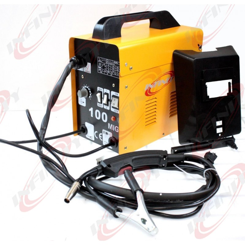 MIG100 Gas-Less Flux Core Welder 90 AMP Variable Wire Feed Welding ...