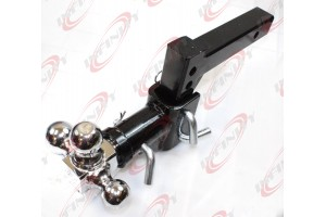 3 BALL Tri Swivel Adjustable Drop Raise Turn Trailer Tow Hitch Mount 7500lbs