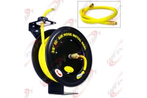 "50 FEET 50FT 3/8"" RETRACTABLE REEL W/ RUBBER AIR HOSE"