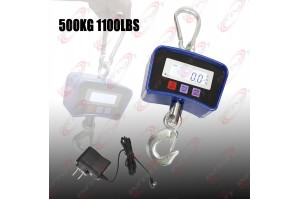 Digital Crane Hanging Scale 500KG 1100LBS Heavy Duty Industrial w/LED Display