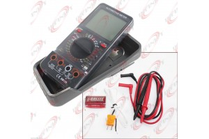 Digital Multimeter LCD AC/DC Ammeter Resistance Capacitance Automotive Meter
