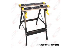 FOLDING CLAMP WORK BENCH WOOD WORKING BENCH TABLE W/ADJUSTABLE VISE