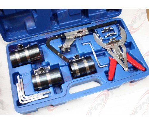 "Piston Ring Service Tool Set Piston Ring Compressor With Ratchet Key 3"" 3.5"" 4"""