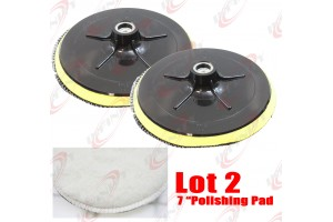 "NEW 2PC 7"" POLISHER/BUFFER BONNET & PAD FOR POLISHING/BUFFING"