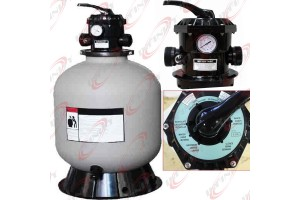 "19"" Sand Filter w/6 Way Valve HI-Flo & Base for Above In Ground Swimming Pool"