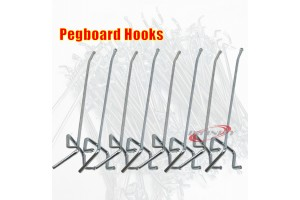 "100PC 1/8""x6"" Pegboard Hooks Shelving Pegboard Shelf For 1/4"" Or 1/8""Peghoard"