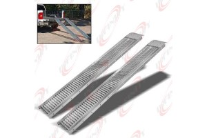 2Pc Steel non slip 1000LB Truck Load Ramp Dirt Bike Moving Haul Towing