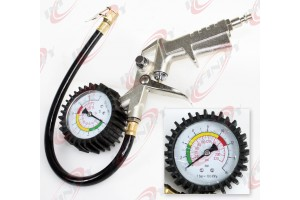 New Pistol Grip Air Tire Inflator With Gauge Car Bike Tire Pressure Checker
