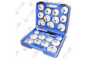 "23pc Aluminum Alloy Cup Type Oil Filter Cap Wrench Socket Removal Set 1/2""Dr."
