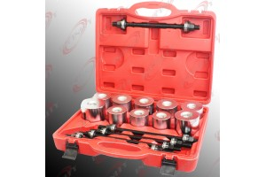 27pc Universal Press & Pull Sleeve Kit Bush Bearing Removal Insertion Tool Set