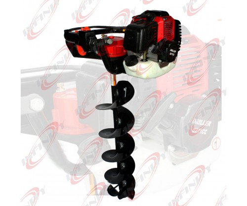 "49cc 2.3HP Gas Powered Earth Post Hole Ice Digger w/250mm x 30"" Earth Auger Bit"