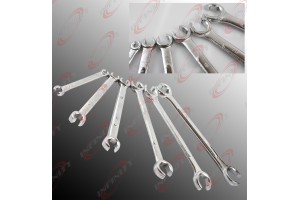 6pc Flare Nut Wrench Set (MM) Metric Drop Forged Carbon Steel Wrench