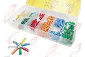 120 PC European Assorted Car Blade Fuse Color Coded Industrial Replacement Kit