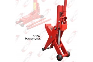 "5 Ton Hydraulic Forklift Jack Fork Tractor Scissor Lift Jack 11000lbs 28""H"