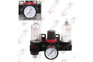 "1/4"" NPT 1.0 MPA PNEUMATIC IN-LINE AIR CONTROL UNIT FILTER LUBRICATOR REGULATOR"