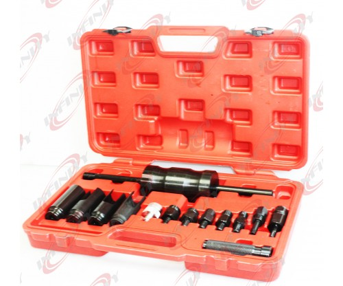 14Pcs Diesel Injector Extractor Remove & Common Rail Adaptor Puller Slide Hammer