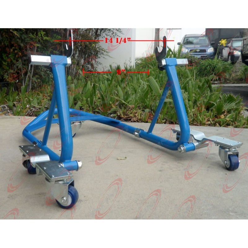 Swing Arm Motorcycle Lift : Motorcycle sport bike atv stand front rear wheel