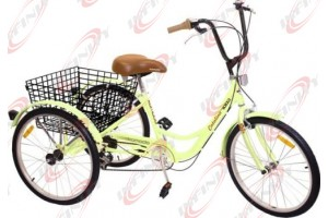 "6-Speed SHIMANO Shifter 24"" 3-Wheel Adult Tricycle Bicycle Trike Cruise Bike/Catalina"