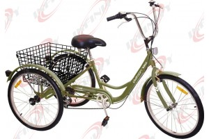 "6-Speed SHIMANO Shifter 24"" 3-Wheel Adult Tricycle Bicycle Trike Cruise Bike/Platoon"
