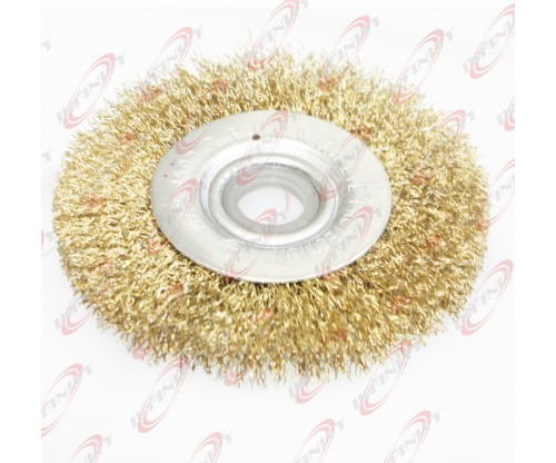 "4"" FLAT WIRE WHEEL BRUSH POLISH GRIND FOR WELDING SOLDERING AND PAINTING"